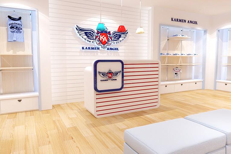 童装专卖店设计理念_服装行业/卡曼天使童装品牌设计